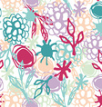 Seamless pattern with flowers leaves spot Sketch vector image
