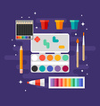 Set of Art Supplies Art Instruments for Painting vector image vector image