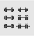 set of barbellsbarbells for gym fitness and vector image
