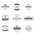 set of minimal vintage hipster logotype templates vector image