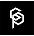 simple cp gp cop initials company logo vector image vector image