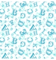 Sketch alphabet seamless pattern vector image vector image