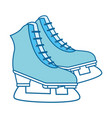 sport ice skates vector image vector image