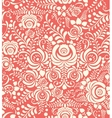White and pink seamless pattern in Russian style vector image vector image