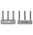 wifi router line and glyph icon network and vector image vector image