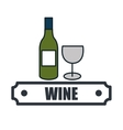 wine list drink isolated icon vector image