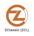 zclassic zcl crypto coin i vector image vector image