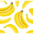 banana seamless pattern ripe bananas isolated on vector image