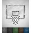 basketball hoop icon vector image