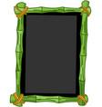 bamboo chalkboard vector image