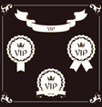 A set of elegant vip label and ribbon it is