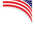american abstract flag corner banner border vector image vector image