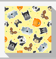 Animal seamless pattern collection with dog 2 vector image vector image