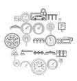 asphalt icons set outline style vector image vector image