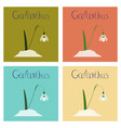 assembly flat nature plant galanthus vector image