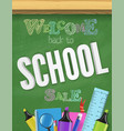 back to school green textured chalkboard colorful vector image vector image