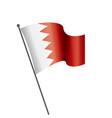 bahrain flag vector image vector image
