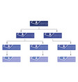 blue business structure concept vector image vector image