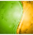 Bright wavy autumn design vector image vector image