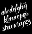 brush alphabet vector image vector image