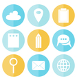 Business circle flat icons vector image vector image