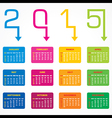 Calendar of 2015 with arrow design vector image