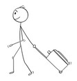 cartoon of man or male tourist with travel vector image