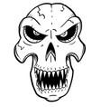 cartoon or drawing halloween skull vector image vector image