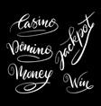 casino jackpot hand written typography vector image vector image