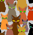 Cats seamless pattern background of pet Retro vector image vector image
