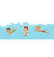 childrens swimming in pool cheerful and active vector image vector image
