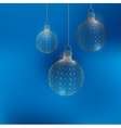 Christmas decoration ball Polygon triangle The vector image vector image