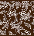 coffee tablecloth sketch seamless pattern vector image