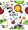 Colored Hand drawn science pattern vector image vector image