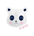 cute panda for t-shirt design vector image vector image