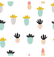 different abstract pineapples vector image vector image
