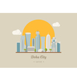 Doha Qatar famous buildings eps10 format vector image