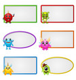 empty frame with little monster character vector image vector image