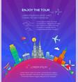 enjoy the tour - flat design travel composition vector image vector image