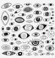 eyes - hand drawn doodle set design elements vector image vector image
