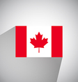 Flat Flag of Canada vector image vector image