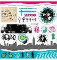 grunge set of design elements vector image vector image