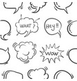 hand draw text balloon pattern style vector image