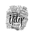 hand drawn symbols of italy vector image