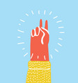 hand gesture peace vector image vector image