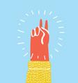 Hand gesture peace