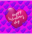 happy valentines day poster vector image vector image