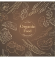 Healthy and Hearty Food Organic restaurant vector image vector image