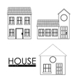 Home family House with door and windows vector image