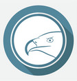 icon eagle on white circle with a long shadow vector image vector image